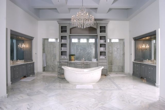 Custom bathroom by Design Homes and Development. Decorating blog post.
