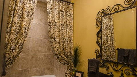Custom bathroom in the Soraya Farms community.
