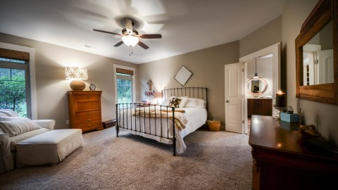 Custom bedroom by Design Homes, home builder.