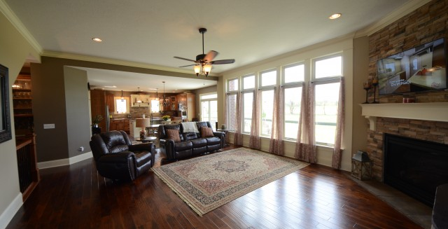A must have feature, open floor concept, by Design Homes.