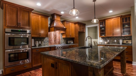 Custom kitchen by Design Homes building custom homes.