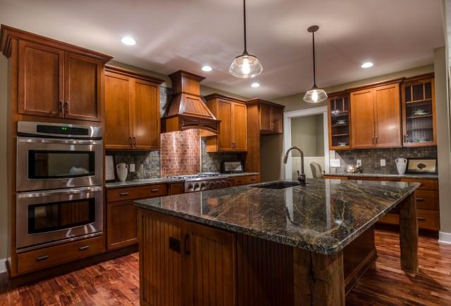 Custom kitchen by Design Homes building custom homes.