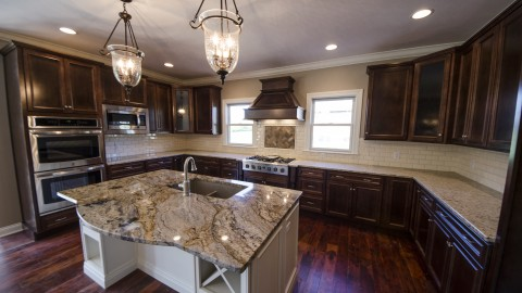 Country Brook custom kitchen, created by Design Homes.