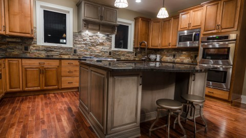 Custom kitchen in The Gabriel, by Design Homes.