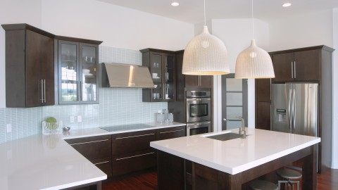 Custom kitchen in The Sabrina, by Design Homes.
