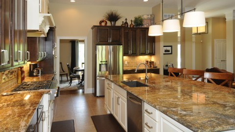 Custom kitchen in Stonebridge, by Design Homes.
