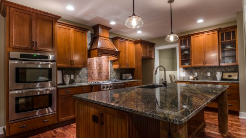 Custom kitchen in The Aaron, by Design Homes.