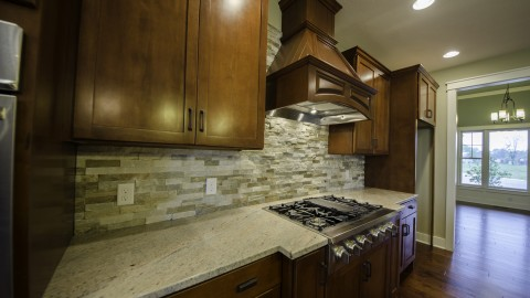 Custom kitchen located in the Villages of Winding Creek, by Design Homes.