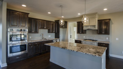 Custom kitchen by Design Homes, located in the Villages of Winding Creek.