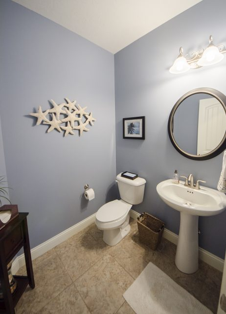 Custom bathroom in Yearling Farms. Built by Design Homes and Development.