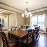 Custom dining room in Yearling Farms. Built by Design Homes and Development.
