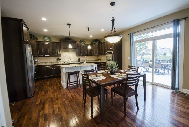 Custom kitchen in Yearling Farms. Built by Design Homes and Development.