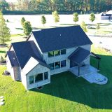 Custom aerial footage of The Madelynn. A market ready home by Design Homes and Development.