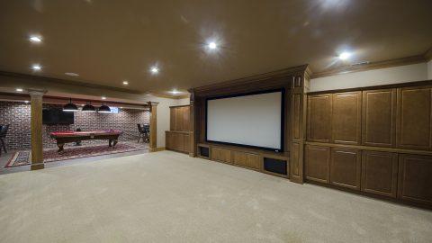 Bellbrook basement remodel job by Design Homes & Development. Your trusted custom home builder.