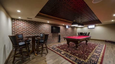 Bellbrook basement remodel job by Design Homes & Development. Your trusted custom home builder.