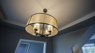 Custom Lighting in a Bridle Creek home by Design Homes