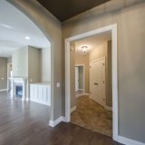 Custom entry in The Jocelyn at Soraya Farms. A custom move-in ready home by Design Homes and Development.