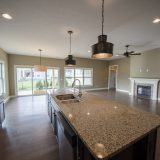 Custom kitchen in The Jocelyn at Soraya Farms. A custom move-in ready home by Design Homes and Development.