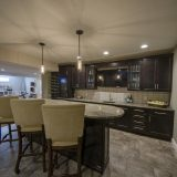 Custom wet bar of The Mitchell in Soraya Farms. A custom model home by Design Homes & Development.