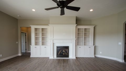 Custom great room in the Beach residence in Soraya Farms. Built by Design Homes & Development.