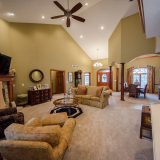 Great room of Hayden residence. Listed by Design Homes & Development.