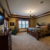 Bedroom of Hayden residence. Listed by Design Homes & Development.
