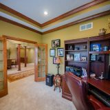 Study of Hayden residence. Listed by Design Homes & Development.