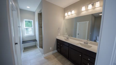 Custom bathroom in Soraya Farms Lifestyle by Design Homes and Development.