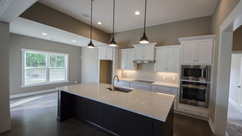 Custom kitchen in Soraya Farms Lifestyle by Design Homes and Development.