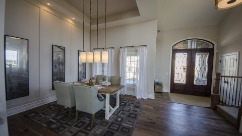 Custom dining room by Design Homes & Development.
