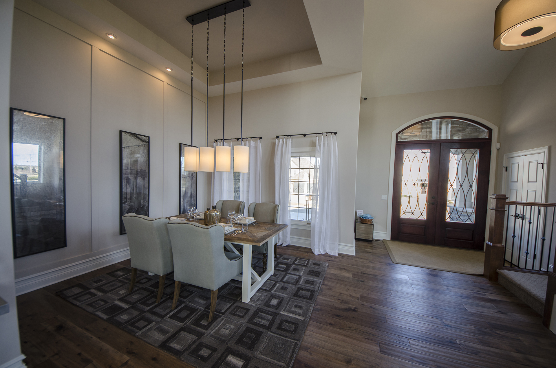 Custom Dining Room Of The Mitchell In Soraya Farms. A Custom Model Home By  Design
