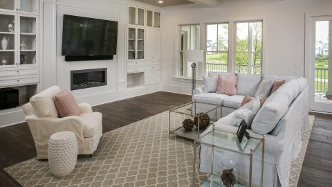 Custom great room by Design Homes and Development.