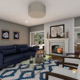 Custom rendering of lot 6 Savannah Farms, The Amber. Built by Design Homes and Development.