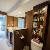 Hancock master bathroom. Listed by Design Homes & Development. Custom home builder.