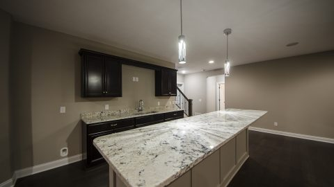 Custom bar area in Cypress Ridge. Built by Design Homes and Development.