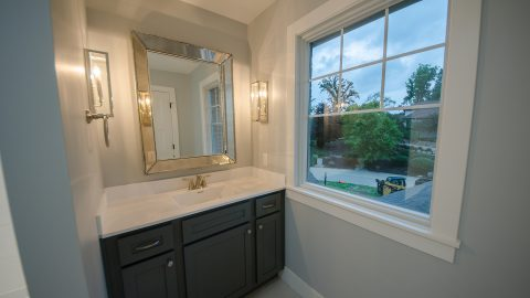 Custom bathroom built by Design Homes and Development.