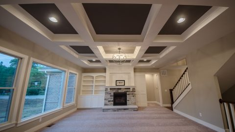 Absolutely stunning great room in a custom Centerville home. Built by Design Homes.