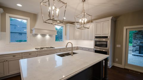Custom kitchen in beautiful Centerville home. Built by Design Homes.