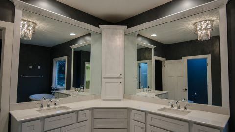 Custom bathroom in beautiful Centerville home. Built by Design Homes.