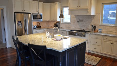 Custom kitchen built by Design Homes and Development.