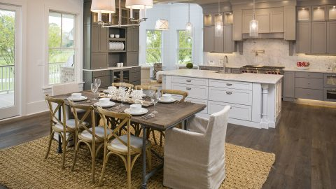 Custom dining room by Design Homes and Development.