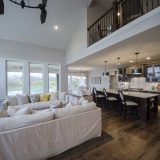 Custom great room of The Mitchell in Soraya Farms. A custom model home by Design Homes & Development.