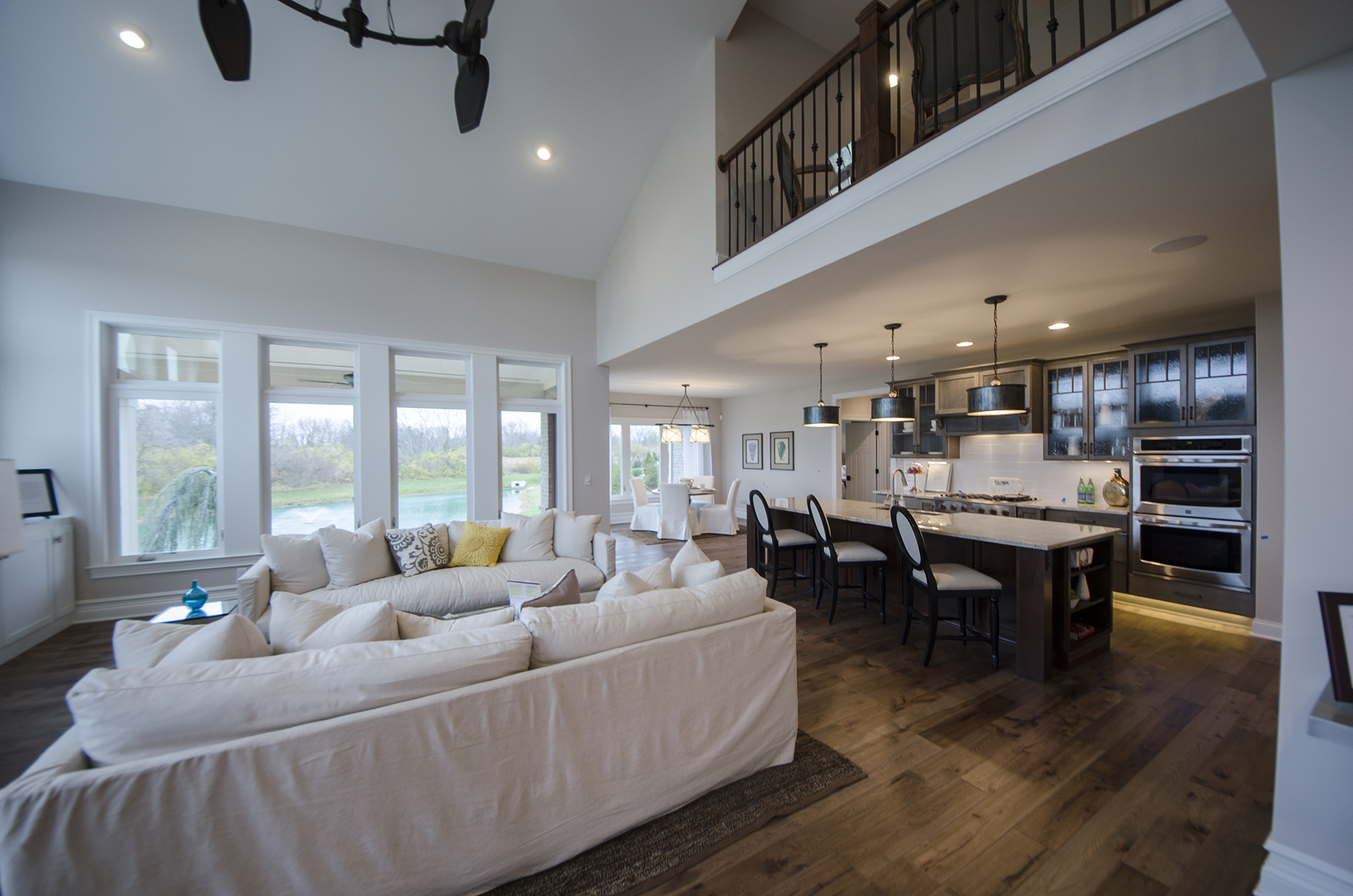 Custom Great Room Of The Mitchell In Soraya Farms. A Custom Model Home By  Design