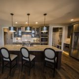Custom kitchen of The Mitchell in Soraya Farms. A custom model home by Design Homes & Development.