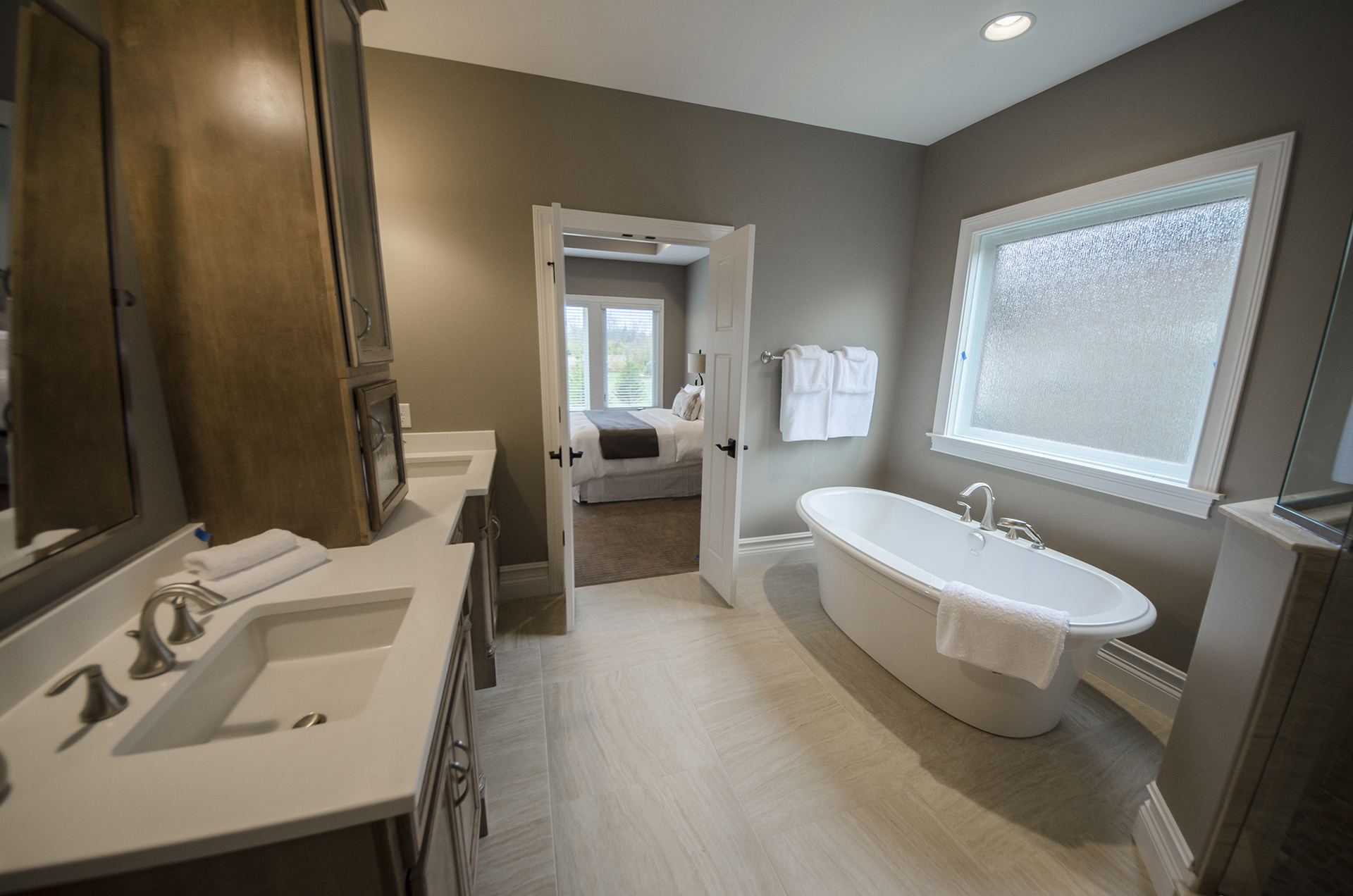 Custom Master Bathroom Of The Mitchell In Soraya Farms. A Custom Model Home  By Design