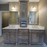 Custom master bathroom of The Mitchell in Soraya Farms. A custom model home by Design Homes & Development.