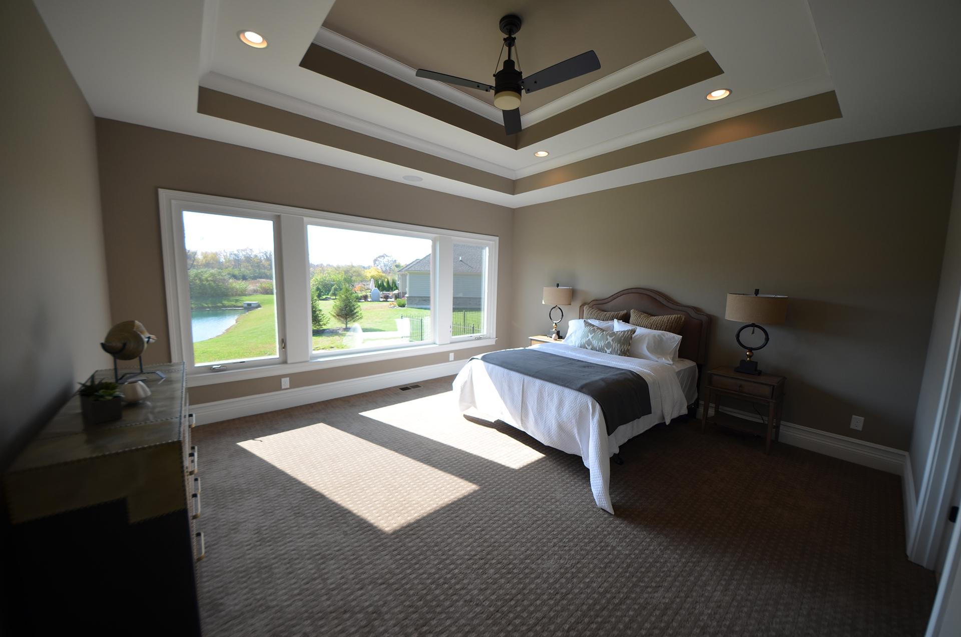 Bedrooms design homes Model home master bedroom decor