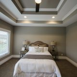 Custom master bedroom of The Mitchell in Soraya Farms. A custom model home by Design Homes & Development.