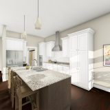 Custom rendering of The Austin by Design Homes & Development.