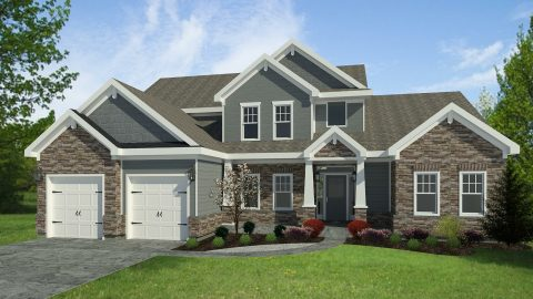 Custom rendering of The Triple Crown by Design Homes & Development.